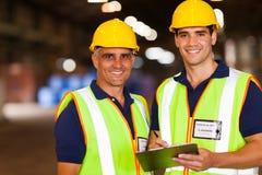 Trabalhadores do armazém Fotografia de Stock