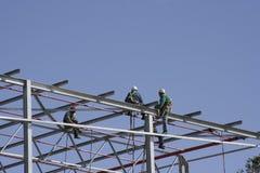 Trabalhadores do céu Foto de Stock