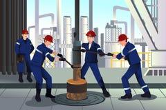 Trabalhadores do petróleo e gás Imagem de Stock