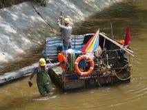 Trabalhadores do rio Imagens de Stock