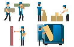 Trabalhadores do serviço de entrega Imagem de Stock