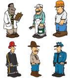 Trabalhadores dos desenhos animados Fotografia de Stock Royalty Free