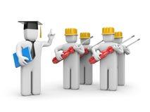 Trabalhadores e conferente ou academic Fotografia de Stock Royalty Free