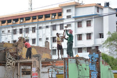 Trabalhadores indianos Fotos de Stock