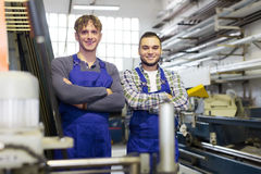 Trabalhadores profissionais felizes Foto de Stock