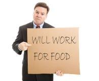 Trabalhará para o alimento Foto de Stock Royalty Free