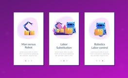 Trabalhe o molde da relação do app da substituição ilustração stock