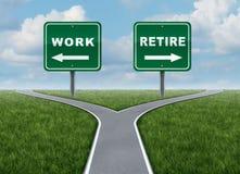 Trabalhe ou aposente-se Imagem de Stock