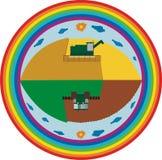 Trabalho agricultural sazonal ilustração stock