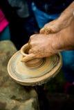 Trabalho com argila Foto de Stock
