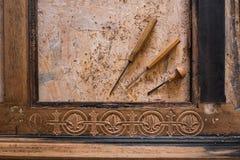 Trabalho com processo de madeira fotografia de stock royalty free
