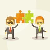 Trabalho da equipe do homem de negócio, ilustração do vetor Fotos de Stock Royalty Free