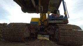 Trabalho da escavação video estoque