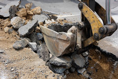 Trabalho da escavação Imagens de Stock Royalty Free