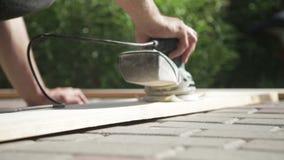 Trabalho da obra de carpintaria em casa filme