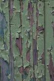 Trabalho da pintura que lasca-se fora da porta imagem de stock royalty free