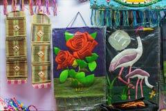 Trabalho de arte, artesanatos indianos justos em Kolkata Fotos de Stock Royalty Free
