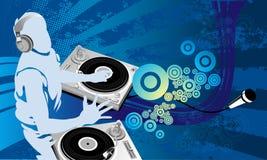 Trabalho de arte do DJ ilustração royalty free