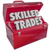 Trabalho de Blue Collar Work do mecânico do técnico da caixa de ferramentas dos comércios especializados Imagens de Stock