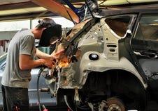 Trabalho de corpo do carro. Foto de Stock Royalty Free