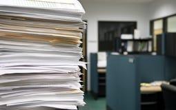 Trabalho de escritório - foco seletivo Fotos de Stock Royalty Free