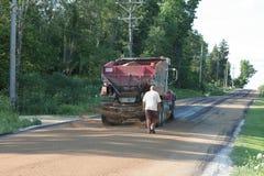 Trabalho de estrada Imagens de Stock Royalty Free