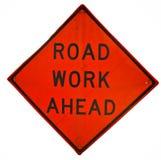 Trabalho de estrada adiante Imagem de Stock Royalty Free