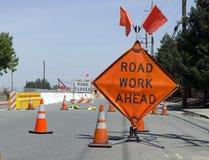 Trabalho de estrada adiante Imagem de Stock