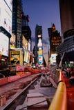 Trabalho de estrada em 7 th Avenu em New York Imagem de Stock Royalty Free