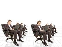 Trabalho de horas extras Imagem de Stock