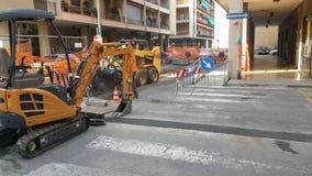 Trabalho de manutenção da estrada Fotografia de Stock Royalty Free