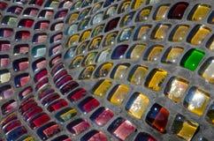 Trabalho de mosaico em um tabuleiro de damas, mosaico na escultura fotografia de stock