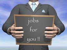Trabalho de oferecimento do homem de negócios - 3D rendem Fotografia de Stock Royalty Free