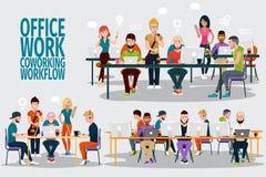 Trabalho de Ofice do grupo ilustração royalty free