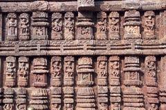 Trabalho de pedra em Konark Imagens de Stock Royalty Free