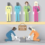 Trabalho de solda Imagem de Stock