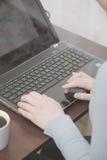 Trabalho de teclado Fotografia de Stock