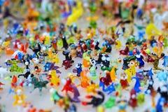 Trabalho de vidro de figuras minúsculas dos animais Imagem de Stock