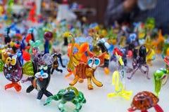 Trabalho de vidro de figuras minúsculas dos animais Fotografia de Stock Royalty Free