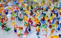 Trabalho de vidro de figuras minúsculas dos animais Fotos de Stock Royalty Free