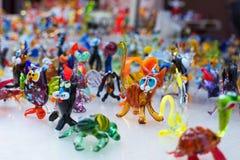 Trabalho de vidro de figuras minúsculas dos animais Imagens de Stock Royalty Free