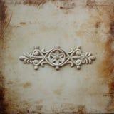 Trabalho decorativo vitoriano do metal na porta de aço antiga imagem filtrada e textured Foto de Stock