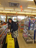Trabalho dentro de uma loja americana Foto de Stock Royalty Free