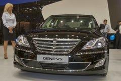 Modelo do carro da génese de Hyundai na exposição imagens de stock royalty free