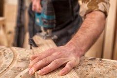 Trabalho do carpinteiro imagens de stock royalty free