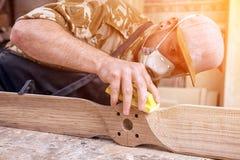 Trabalho do carpinteiro fotografia de stock royalty free