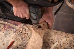 Trabalho do carpinteiro imagens de stock