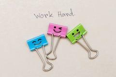 trabalho do clipe de papel feliz Imagens de Stock