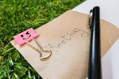trabalho do clipe de papel feliz Foto de Stock