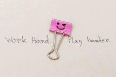 trabalho do clipe de papel feliz Imagem de Stock Royalty Free